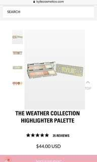 kylie cosmetics weather collection pressed powder highlighter palette