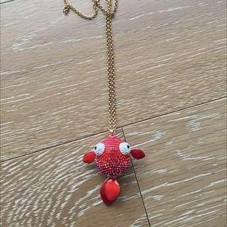 Swarovski Necklace Fish
