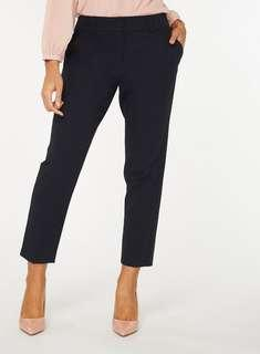 Dorothy Perkins Navy Ankle Grazer Pants