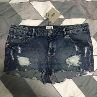 ASOS Ripped Denim Midwaist Shorts