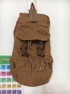 🚚 (MiQi)《出清價》七色棉咖啡色後背包