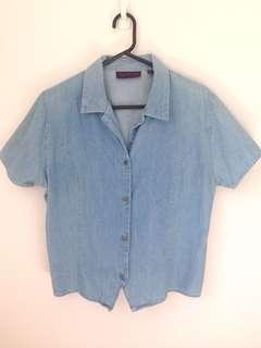 Vintage Denim Top (ties at back)