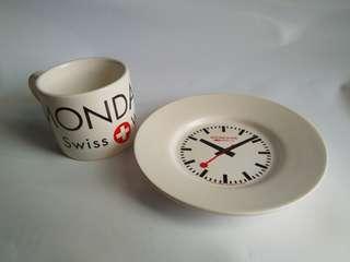 降價 Mondaine瑞士國鐵紀念咖啡杯組