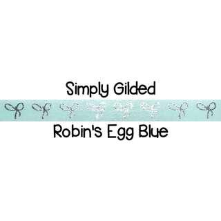Simply Gilded Robin's Egg Blue Washi Tape Samples