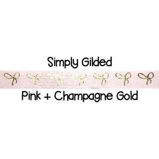Simply Gilded Pink + Champagne Gold Washi Tape Samples