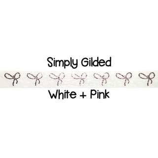 Simply Gilded White + Pink Washi Tape Samples