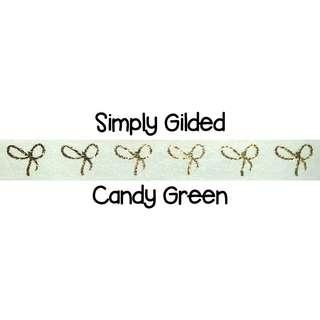 Simply Gilded Candy Green Washi Tape Samples