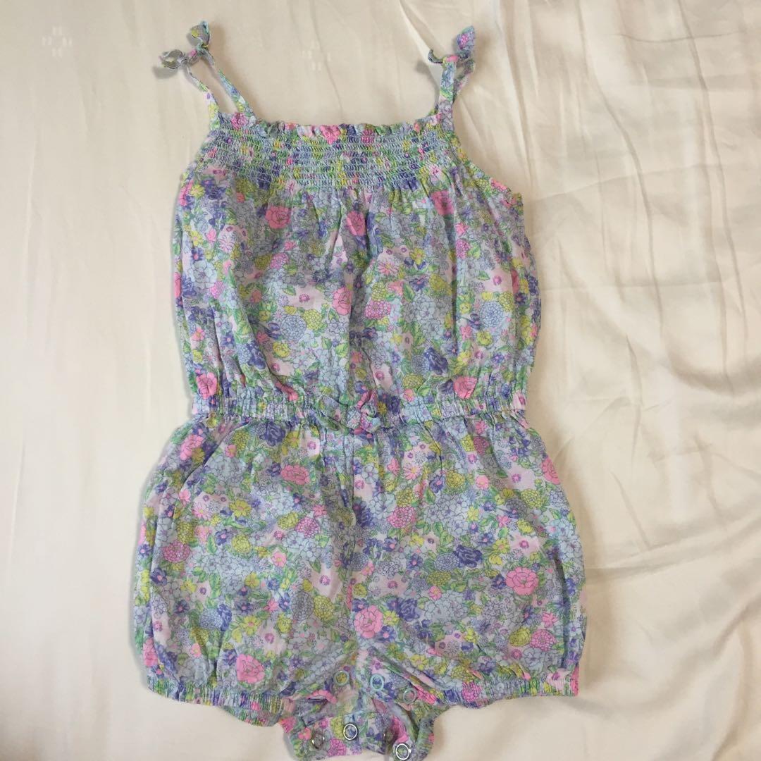 c9bec8b347eb 12 month baby girl Floral Romper   jumpsuit