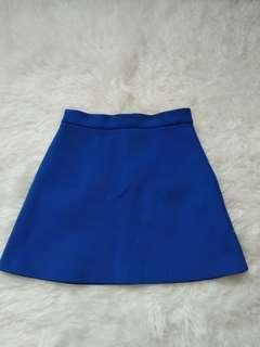 Blue skirt topshop (free,  cukup ganti biaya packing sama ongkir)