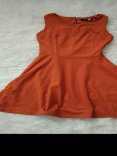 Bebe orange dress (free, cukup ganti biaya packing dan ongkir)