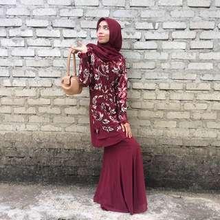 Baju Kurung Moden glitter lace