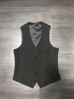 黑色西裝背心