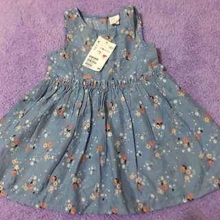 H&M BN WITH TAG FLORAL DRESS FOR BABY