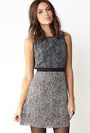 F21 Grey Print Dress 灰色圖案連身裙