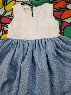 Blue and white dress small