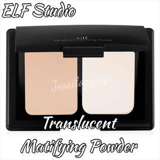 READY STOCK - ELF Studio Translucent Matifying Powder / ELF Cosmetics Translucent Mattifying Powder in TRANSLUCENT / e.l.f. Cosmetics