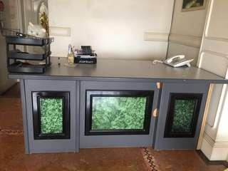 Office table & 2 drawers table