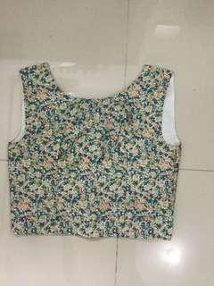 HANDMADE Floral Crop Top