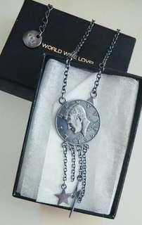 🌸日牌 World wide love Vintage Silver coins 雙面長頸鏈