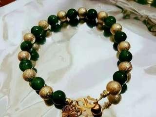 Handmade grade jade bracelet ikat suasa #GayaRaya