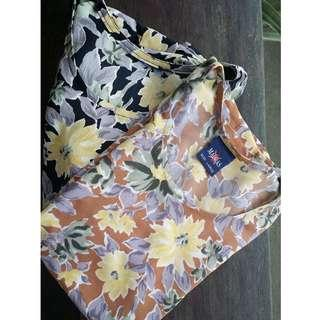 TWO SHORT SLEEVES BLOUSES
