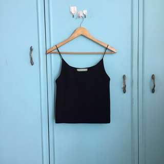 Black camisole semi crop sm