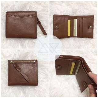 Fossil Coraline RFID Mini Wallet Brown