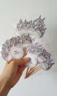 Cupcake Topper - 36pcs - Totoro
