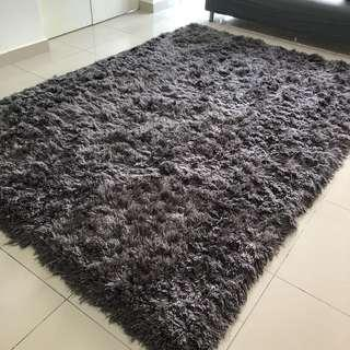 Extra Large Thick Grey Shaggy Carpet