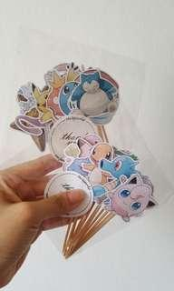 Cupcake Topper - 24 pcs - Pokemon