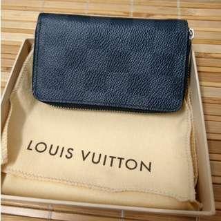 🚚 LV 拉鍊零錢包 九成新 名片夾 男 棋盤 n63076 Louis Vuitton 路易威登