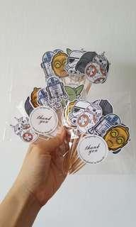 Cupcake Topper - 36pcs - StarWars