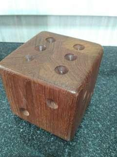 Solid Wood Dice Cube