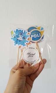 Cupcake Topper - 12pcs - Robocar Poli