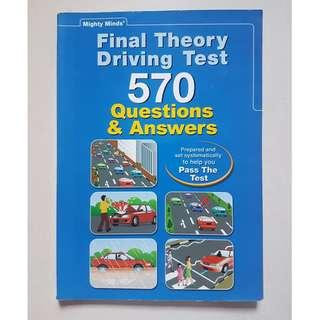 Final Theory Driving Test – 570 Questions & Answers