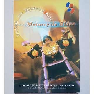 SSDC Handbook for Motorcycle Rider