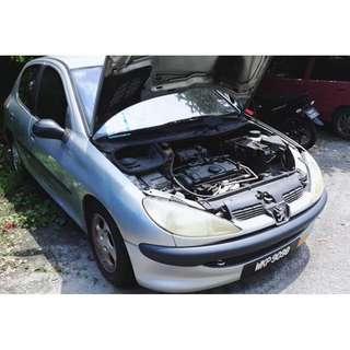 Peugeot 206 scrap