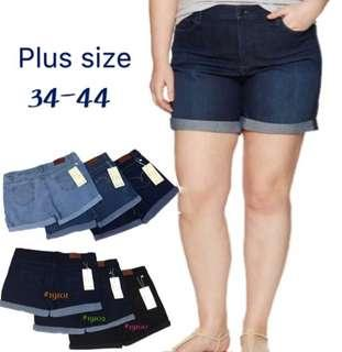Plus Size High Waist Stretchable Shorts