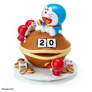 多啦A夢 叮噹 萬年歷 座枱擺設【日版】Sanrio Doraemon Perpetual Calendar   @KAZOEshop