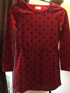 Seed red dress for girl
