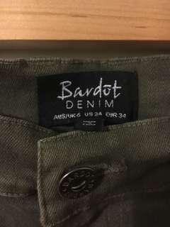 Bardot khaki mini skirt size 6