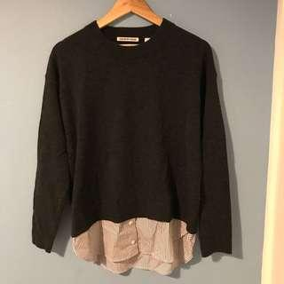 Country Road charcoal grey sweater
