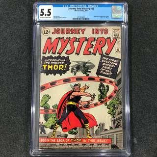 Journey into Mystery 83 Cgc 5.5 ( 1st Thor )