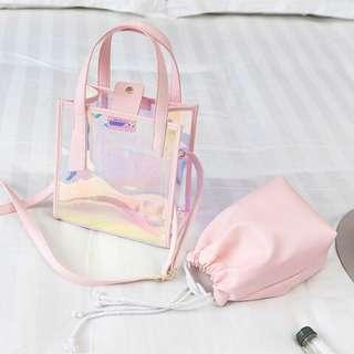 Pvc Transparent sling bag