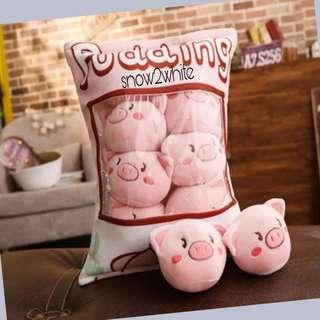 Cute Piglets Pudding Pillow