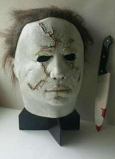 Party Mask Micheal Myers Mask and Bloody KnifeSet