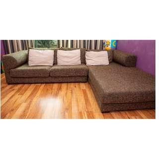 L-Shaped 3 Seater Sofa / Couch