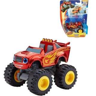 BNIB: Fisher Price Nickelodeon Blaze and the Monster Machines, Metallic Blaze - Die Cast Vehicle