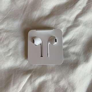 Apple earpods with lightning connecter (also separate adaptor)