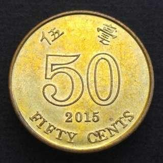[錯體] 2015年 香港洋紫荊貳毫(伍毫) 硬幣一枚